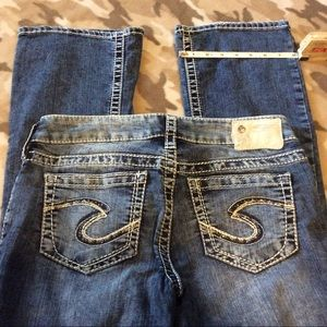 Silver boot cut  jeans